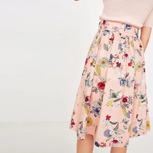 Lace-up Floral Skirt
