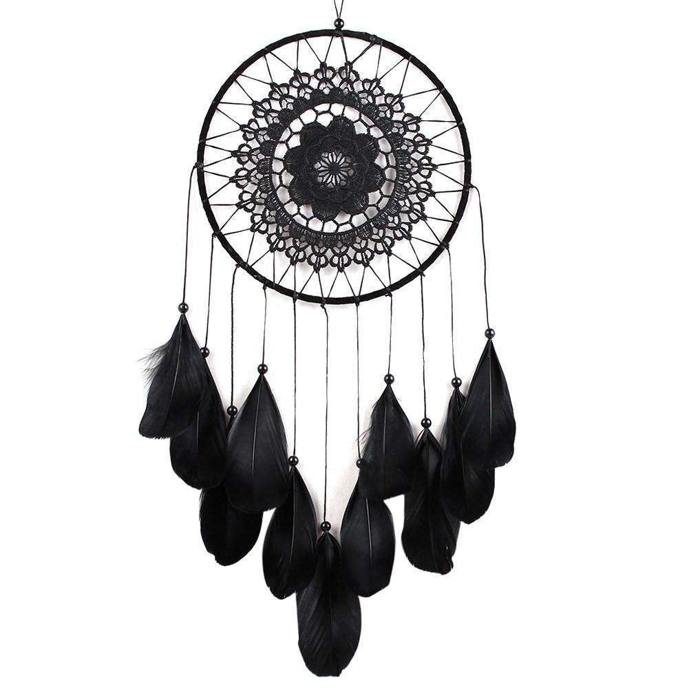 Handmade Black Dreamcatcher -  Free People - Bohochic - Music Festival
