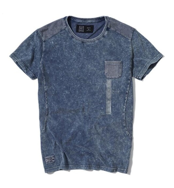 Men's Patchwork Pocket Top