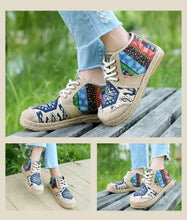 Vintage Hemp Ankle Shoes