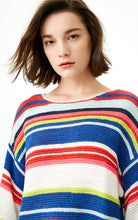 Loose Fit Colored Stripes Knit