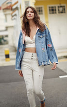 Oversized Floral Denim Jacket