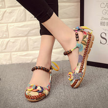 Vintage Ankle Beading Slip-On