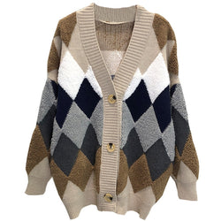 Cozy Block Cardigan