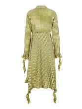 Madeleine Ruffled Check Dress