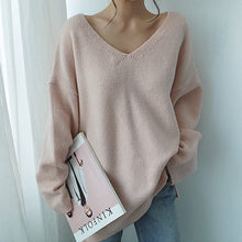 Women V-Neck Knitted Sweater
