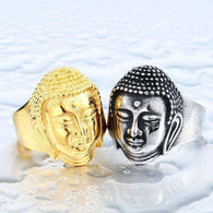 Stainless Steel Buddha Ring - Mindful Bohemian