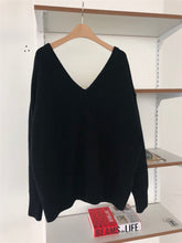 Slouchy V-Back Sweater