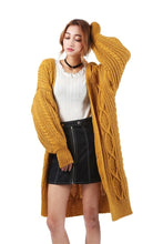 Long Winter Knitted Cardigan