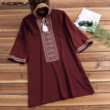 Ethnic Men Tassle Top