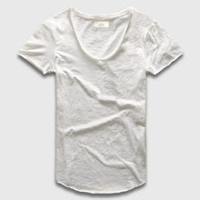 Deep V-Scoop Neck T-Shirt