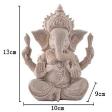 Hand Carved Sandstone Ganesh -  Free People - Bohochic - Music Festival