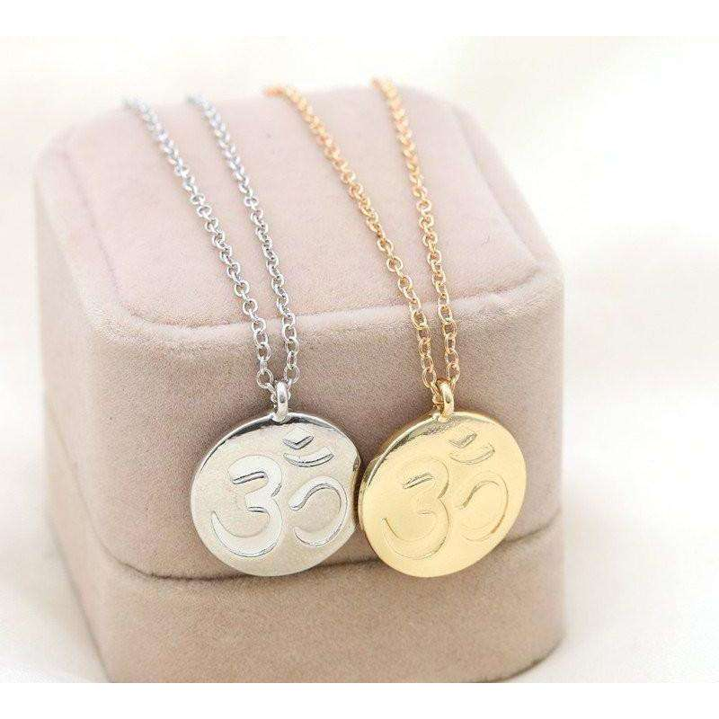 Golden & silver plated Yoga AUM OM Charm Pendant -  Free People - Bohochic - Music Festival