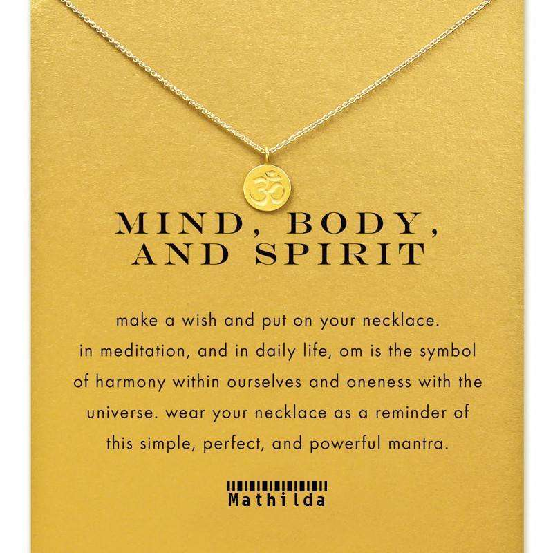 Mind, Body, and Spirit Om Necklace (Gold Dipped),necklace,[product_vender],Mindful Bohemian