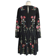 Floral Embroidered Straight Dressdress