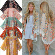 Floral Lounge Kimono -  Free People - Bohochic - Music Festival