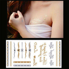 Shiny Silver, Gold Faux Tattoo,tattoo,[product_vender],Mindful Bohemian