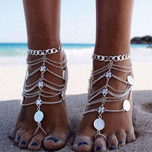 2 piece Gypsy Coin Trove Anklets -  Free People - Bohochic - Music Festival