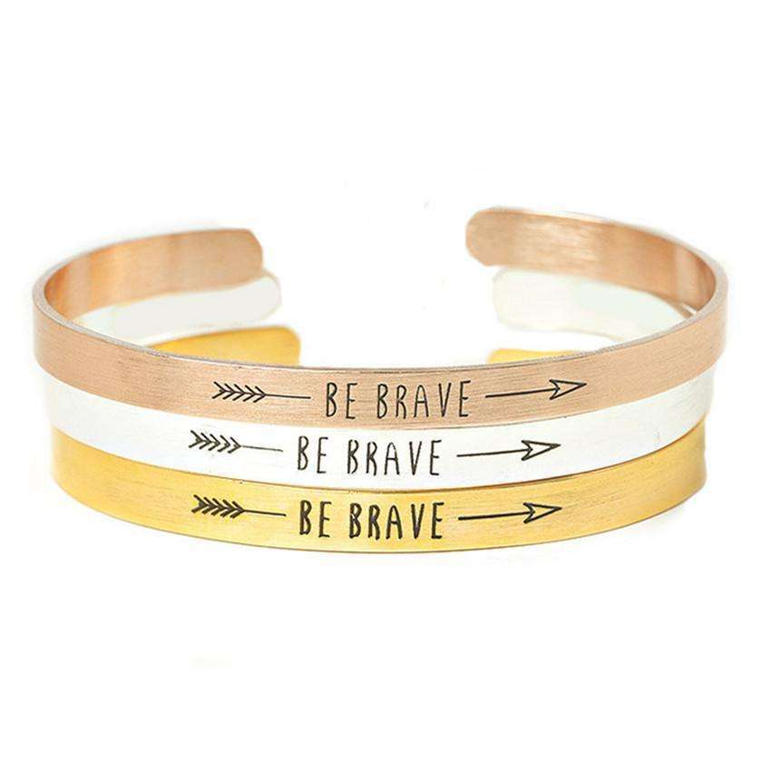 Be Brave Wrist or Arm Bangle -  Free People - Bohochic - Music Festival