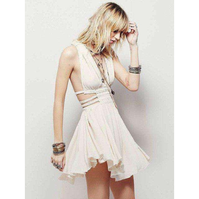 Inspired Mini Dress -  Free People - Bohochic - Music Festival
