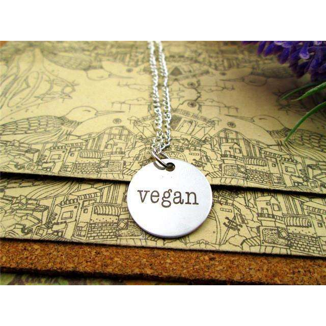 Stainless Steel Vegan Necklace,necklace,Mindful Bohemian,Mindful Bohemian