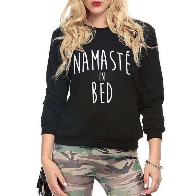 Namaste In Bed Sweatshirt - Mindful Bohemian