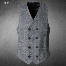 Double Breasted Men's Herringbone Vest -  Free People - Bohochic - Music Festival