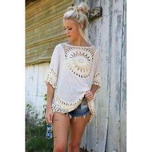 Crochet Laced Batwing Top -  Free People - Bohochic - Music Festival
