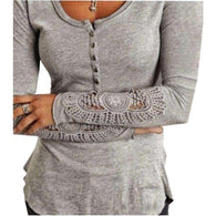 Crochet Sleeve Henley -  Free People - Bohochic - Music Festival