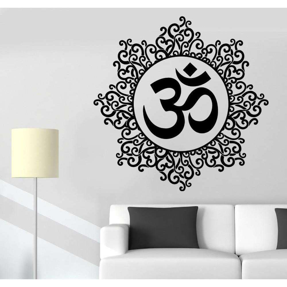 OM Mandala Wall Decal - Mindful Bohemian