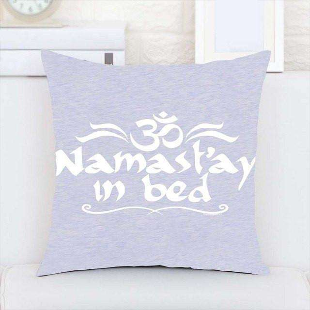Namaste Throw Pillow - Mindful Bohemian