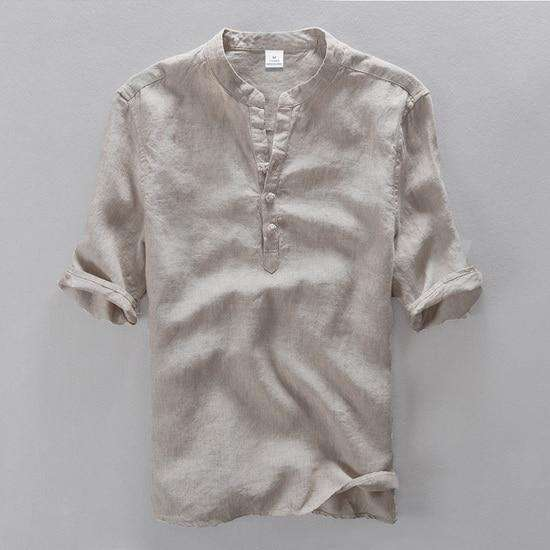Linen Men Slim Fit Top,mens,Mindful Bohemian,Mindful Bohemian