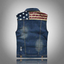 Men's Noble American Ripped Denim Vest,mens,[product_vender],Mindful Bohemian