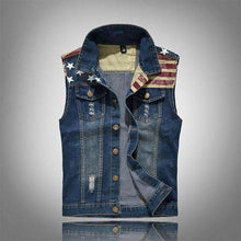 Men's Noble American Ripped Denim Vest,mens,Mindful Bohemian,Mindful Bohemian