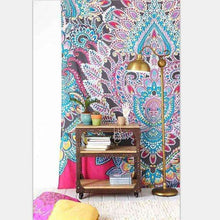 Floral Indian Elephant Tapestry -  Free People - Bohochic - Music Festival