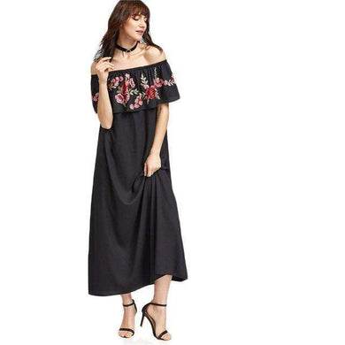 Black Rose Maxi -  Free People - Bohochic - Music Festival