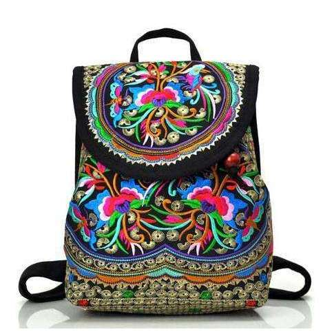 351205edfdad Embroidered Hippie Backpack - Free People - Bohochic - Music Festival