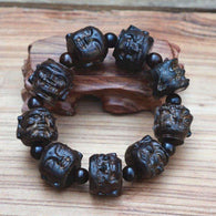 Hand Carved Sandalwood Buddha Beads -  Free People - Bohochic - Music Festival