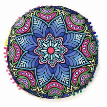 Mandala Pom Pom Floor Pillow - Mindful Bohemian