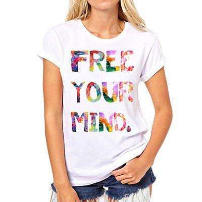 FREE YOUR MIND Tshirt -  Free People - Bohochic - Music Festival
