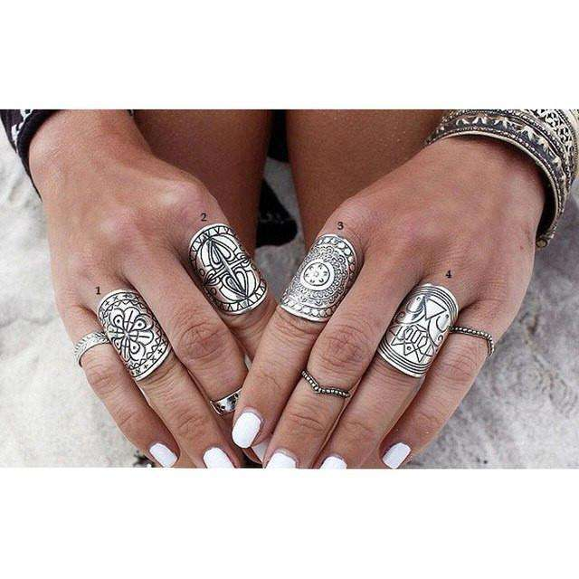 4 PC Boho Rings - Mindful Bohemian