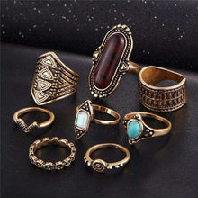 8 piece BOHO ring set -  Free People - Bohochic - Music Festival
