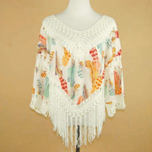Crochet Feather Poncho -  Free People - Bohochic - Music Festival