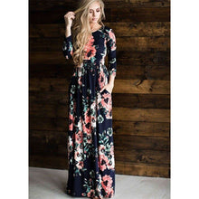 Long Sleeves Floral Pocket Dress,dress,[product_vender],Mindful Bohemian