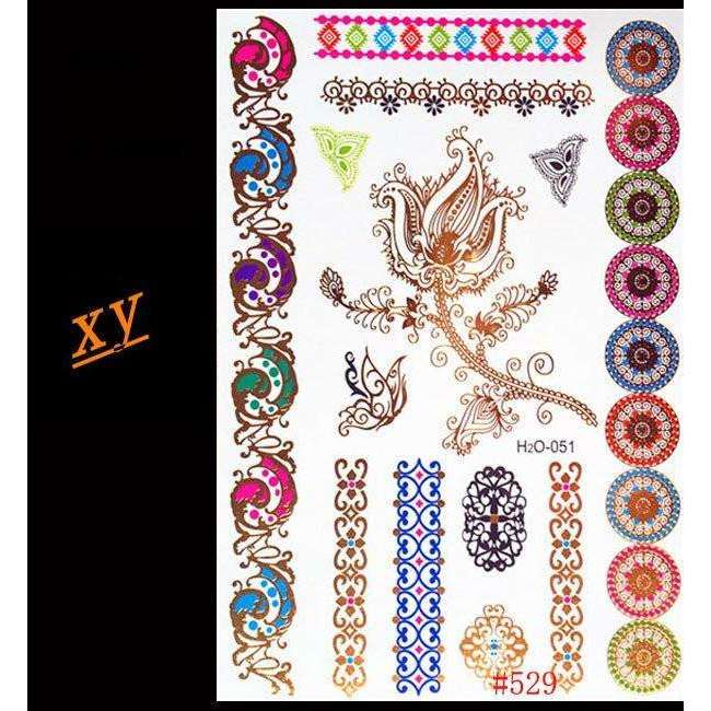 Rainbow Glitter Faux Tattoos,tattoo,[product_vender],Mindful Bohemian