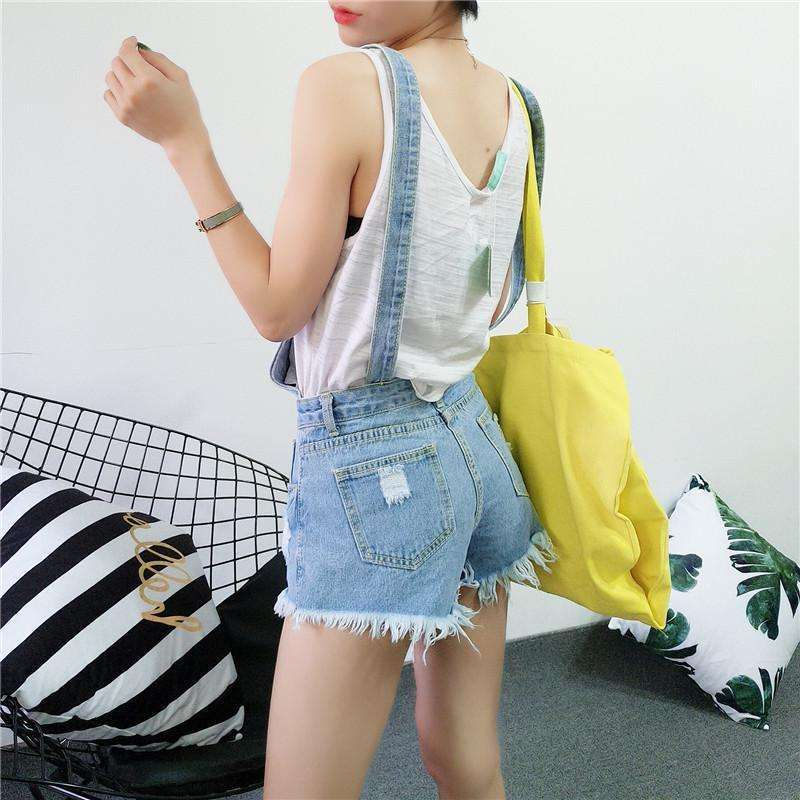 Destroyed Denim Overalls -  Free People - Bohochic - Music Festival