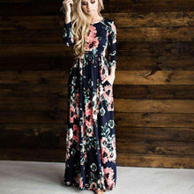 Long Sleeves Floral Pocket Dress,dress,Mindful Bohemian,Mindful Bohemian