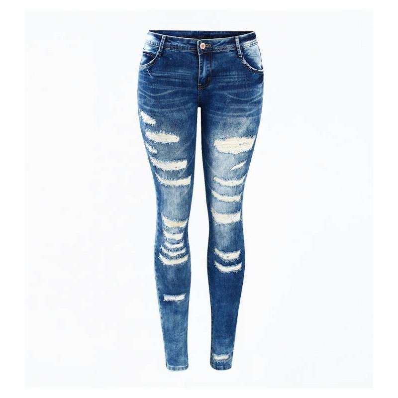 Distressed Skinny Jeans -  Free People - Bohochic - Music Festival