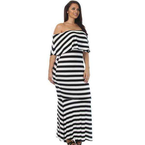 Striped Maxi,plus,Mindful Bohemian,Mindful Bohemian