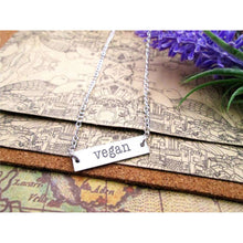 Stainless Steel Vegan Necklace,necklace,[product_vender],Mindful Bohemian